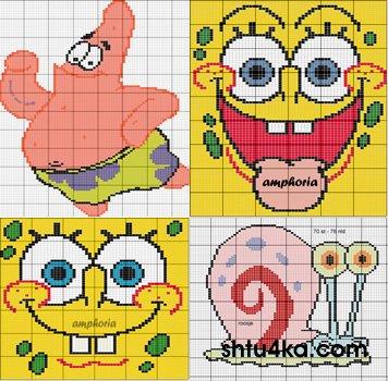 Схемы для вышивания: Spongebob