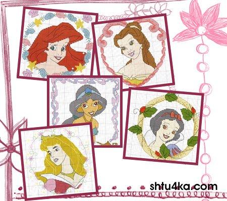 Схемы для вышивания: Принцессы