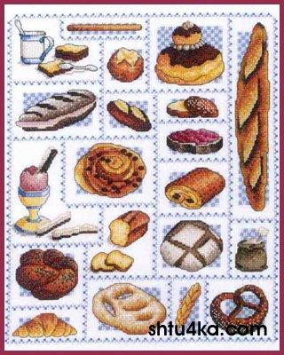 Схема для вышивания: Хлеб
