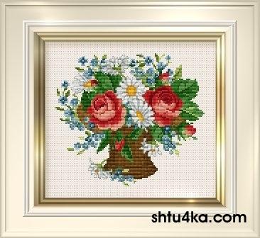 Схема для вышивания: Розы и