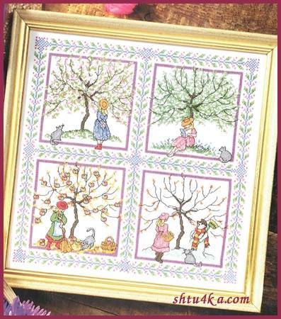 Схема для вышивания: Дерево