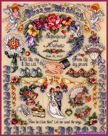 Схема для вышивания: Свадебный