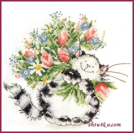 Схема для вышивания: Кот с